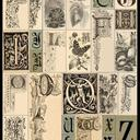 Engravings of various stylized nineteenth-century letters