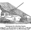 Nineteenth-century engraving of an instrument for collecting insects