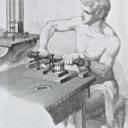Antiqued portrait of Paul du Bois-Reymond in Emil du Bois-Reymond's Untersuchungen über thierische Elektricität, vol. II (Berlin: Reimer, 1884)