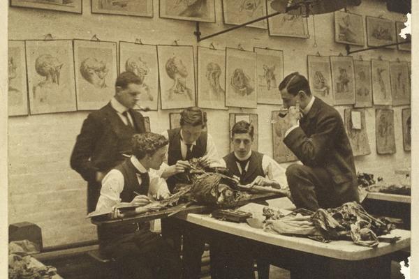Early photograph of medical students
