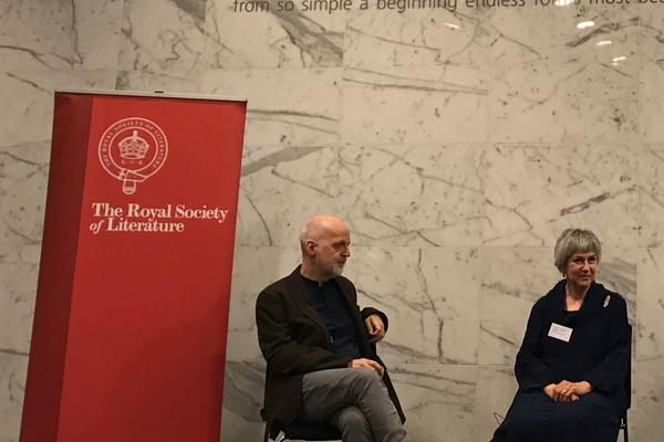 Photograph of Prof Don Paterson and Prof Veronica Van Heyningen