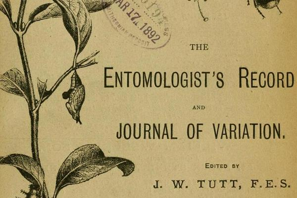 Title page of the Entomologist's Record and Journal of Variation
