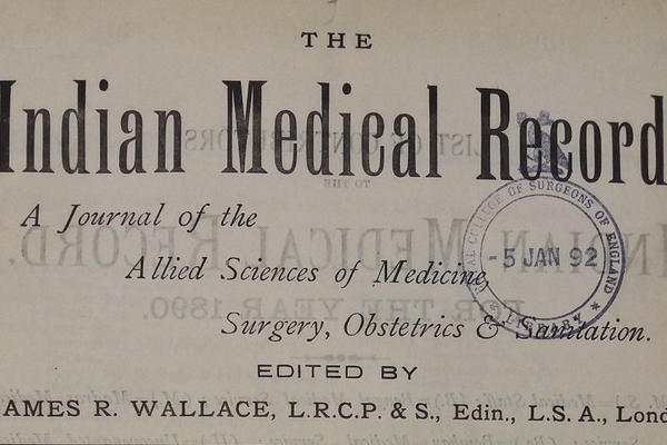 Title page of Indian Medical Record