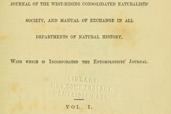 Title page of the Naturalist