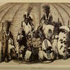 A drawing of Zulu chiefs from the periodical Intellectual Observer